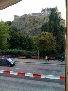 View of Edinburgh Castle from Starbuck's Princes Street. Edinburgh Castle, Scotland, Places To Visit, Cottage, Street, City, Edinburgh, Cottages, Cities