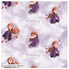 Frozen Anna Watercolour Disney Cotton Fabric