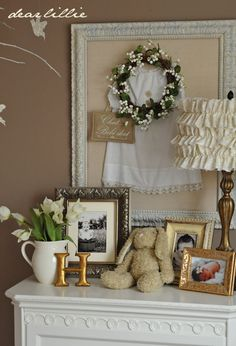 love the framed dress on burlap for a baby girl's room. too sweet