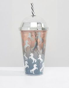 New Look Ombre Unicorn Glitter Shake It Cup