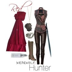 Red Riding Hood: Werewolf Hunter- like the idea of riding boots and a moon necklace
