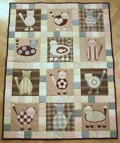 Beehive Quilts: Blog site with cute Dog or Cat BOM free patterns