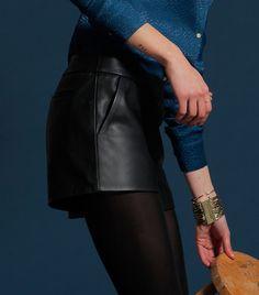 Short en cuir Sezanne