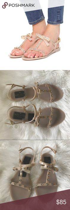 Kate Spade Savannah Jelly Sandals NWOT New without tags Kate Spade Jelly Bow Sandals in nude color. kate spade Shoes Sandals