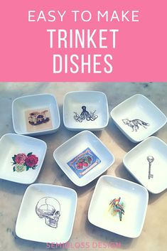 Trinket dishes are perfect for storing your phone and other necessities. These DIY trinket dishes are easy to make and customize. Make them as gifts or keep them for yourself! #easydiy #giftsforher #diygifts #organizing