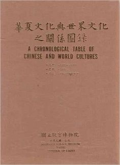 A Chronological Table of the Chinese and World Cultures: Philosophy, Art , Technology National Palace Museum, World Cultures, Philosophy, Chinese, Technology, Amazon, Table, Books, Ebay