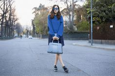 Cobalt and Navy - I like it!!!   Spring 2014 Fashion Trends: Fresh Stylish Color Combinations to Test-Drive Now!