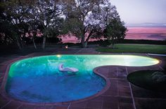 Donnell house and garden in Sonoma, California features what is quite possibly the most beautiful swimming pool in the world - and certainly...