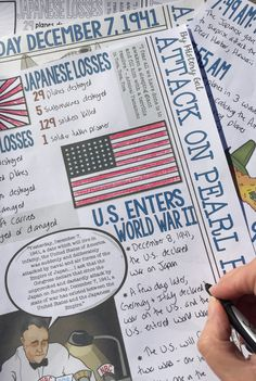 Students can color and doodle as they learn about the Japanese attack on Pearl Harbor on December 7 Teaching Us History, Teaching Social Studies, History Teachers, 8th Grade History, Middle School History, History Classroom, New Classroom, Classroom Ideas, Pearl Harbor Attack