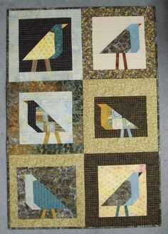 """Hello out there! It's been a long time since anyone has posted here. Aren't you feeling very unruly? Here's a little quilt (27"""" x 40""""..."""