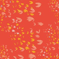 Gentle Breeze Red - Meadow - A cotton fabric collection inspired by summer days with warm colours that are fresh and bold.