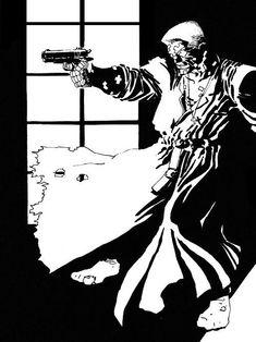 Sin City by Frank Miller Frank Miller Sin City, Frank Miller Art, Dark Comics, Bd Comics, Comic Book Characters, Comic Books Art, Sin City Comic, Bd Art, Tv Movie
