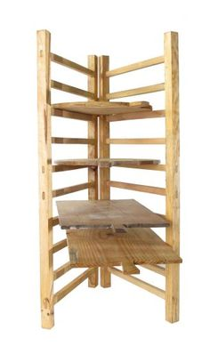 Wooden folding bread board rack, designed to hold and display breadboards.   49