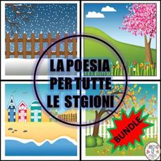 Your beginning L2 students will love writing seasonal poetry in Italian with this Italian poetry bundle. Bundle includes four files for each of the seasons. See links below for full descriptions and previews for each product included in this bundle: Poesia Invernale Poesia Primaverile Poesia Estiva Poesia Autunnale...