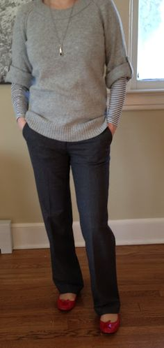 Work outfit- I love this!!! Perfect for a long, hard day at work. Love.