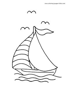 SailBoat color page for kids