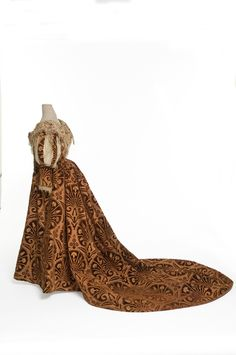 Evening Gown (image 2) | House of Worth | Paris | 1895 | velvet, satin | Les Arts Decoratifs