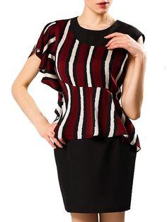 Elegant Round Neck Striped Bodycon-dress Bodycon Dresses from fashionmia.com