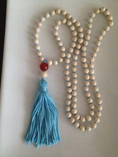 White River Stone Mala Necklace on Etsy, $50.00