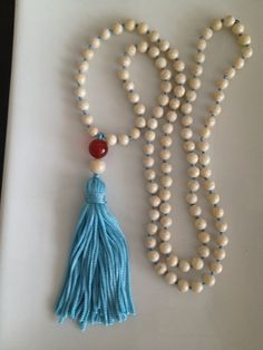 White River Stone Mala Necklace by TheArtsyNomad on Etsy