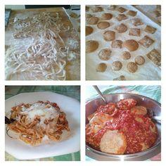 Non si esce? Allora dedichiamoci alla cucina! #pasta #homemadefood #ricottadipecora #PicsArt #homemade #lightfood #lunch #happyday #happysunday #followme #follow #homesweethome #creativemamyfood #integrale #wholegrain #ravioli #tagliatelle #noodles #ragù #tasty