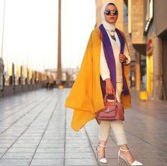 warm colors hijab outfit- Hijab fashion online http://www.justtrendygirls.com/hijab-fashion-online/