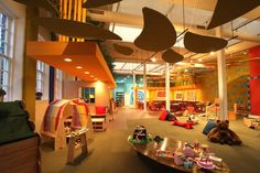 Play Cafe, so parents can sit and drink coffee and kiddos can run around and play