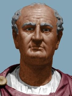 Colorized Bust of Emperor Vespasian [an attempt to recreate the supposed original appearance of the portrait bust. Ancient Rome, Ancient Art, Ancient History, Roman History, Art History, Rome Antique, Roman Britain, Roman Sculpture, Roman Emperor