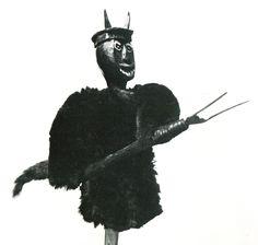 Diabeł – lalka z szopki. Wieś Lubień, woj. Piotrków. Ok. 1690 r.