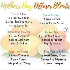 Mother's day trio diffuser blend recipes! #kumquat #redmandarin #sunnycitrus