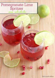 Pomegranate Lime Spritzer (Non-Alcoholic)