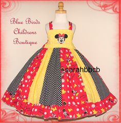 Minnie Mouse Classic Girls Dress  BBCB Boutique not by sarahBBCB, $43.00