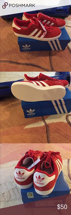 Adidas Gazelle's Brand new! Size 5 youth= size 7-7.5 women's. Adidas Shoes Sneakers