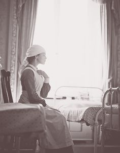 Sybil during the war  | More Downton Abbey photos here:  http://mylusciouslife.com/historical-style-downton-abbey-photos/