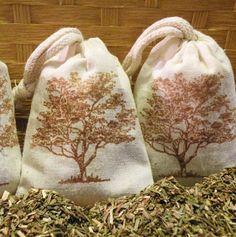Balsam Fir Sachet Bags   -  Set Of Three Sachet Bags  -  Gift Basket Addition  - Maine Woods Scented