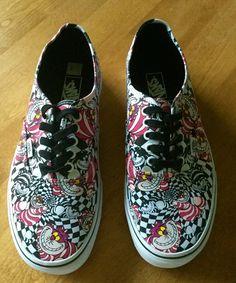 d3c6289acb28 Chesire cat  lt 3 Alice in Wonderland shoes!  VANS Alice In Wonderland Shoes