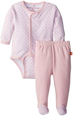 Magnificent Baby BabyGirls Newborn Girls Diamond Long Sleeve Burrito and Pants White Diamonds 3 Months >>> Click on the image for additional details.