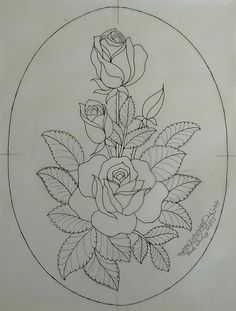 Guardar Floral Embroidery Patterns, Rose Embroidery, Hand Embroidery Stitches, Hand Embroidery Designs, Pencil Art Drawings, Art Sketches, Flower Coloring Pages, Fabric Painting, Lotus Painting