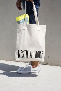 Westie At Home tote bag American Apparel by MONOFACES, €17.00