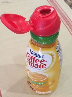 Simple Organizing: Coffee Creamer Containers - Here's a trick to organizing that's as simple as it gets. Don't throw away those coffee creamer containers! They…