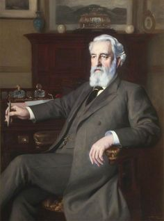 Portrait of James Mansergh (1834–1905), FRS 1903 by William Mainwaring Palin (English: 1862-1947).....Mansergh was an English civil engineer who started his career in railway work and then designed many sewerage and fresh water schemes. He was the President of the Institution of Civil Engineers from November 1900 to November 1901.....chairman of the Engineering Standards Committee which became the British Standards Institution....elected a Fellow of the Royal Society in 1901.....
