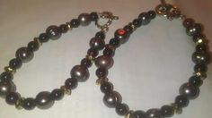 Black pearl single strand bracelets