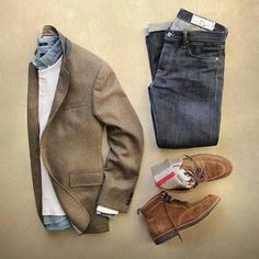 Smart casual. Tweed and suede Upgrade your style @stylishmanmag @shopthatgrid @thepacman82 grid