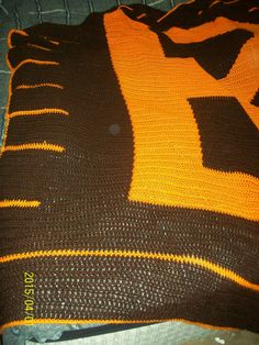 Football inspired Queen size blanket by dnjcrafts on Etsy