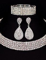 Hot Selling Bride Classic Rhinestone Crystal Choker Necklace Earrings and Bracelet Wedding Jewelry Sets Wedding Accessories Women's Jewelry Sets, Wedding Jewelry Sets, Wedding Accessories, Fine Jewelry, Women Jewelry, Copper Jewelry, Jewelry Ideas, Jewlery, Jewelry Watches