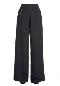 Wide leg 1940s style pants