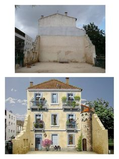 Before...After - Juliette and esprits by Patrick Commecy & A.Fresco (Montpellier, France)