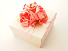 Handmade Box, Jewelry Box, Gift Box, Wedding Favors Box, Birthday Favor, Baby Shower Favor, Ivory Box, Pink Box