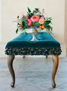 Sandro Boticelli Wedding Inspiration | Taylor Lord | Italian Renaissance | Teal + Peach + Cantaloupe + Coral.