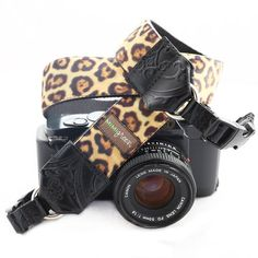 Mimi Green 'Susie' Velvet Leopard DSLR Camera Strap ** Want additional info? Click on the image. (This is an Amazon Affiliate link and I receive a commission for the sales)